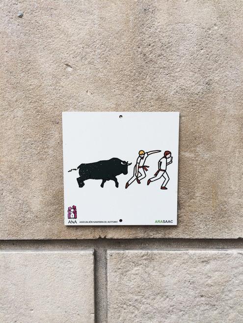 Pamplona-RunningBulls-Sign