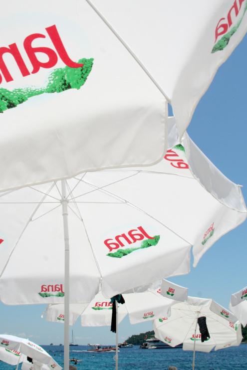 Banje Beach Club Umbrellas | Dubrovnik, Croatia