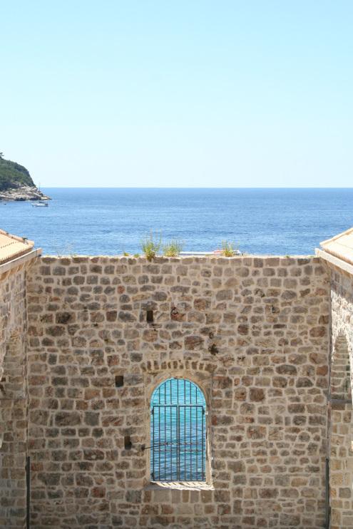 Blue water in Dubrovnik, Croatia