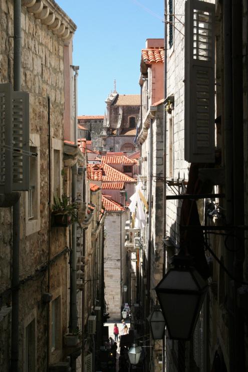 Narrow street in Old City Dubrovnik