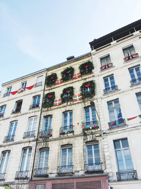 Festive Bayonne Decorated for the Fêtes