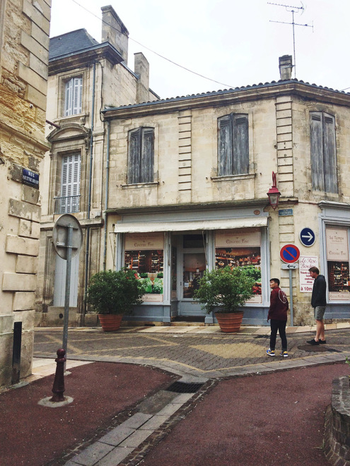 The quiet streets of Pauillac, France