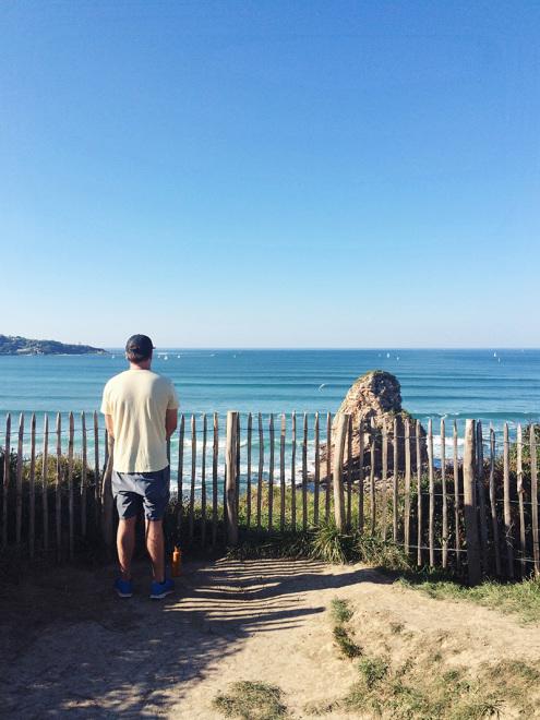 Watching the surf along La Corniche Basque | France