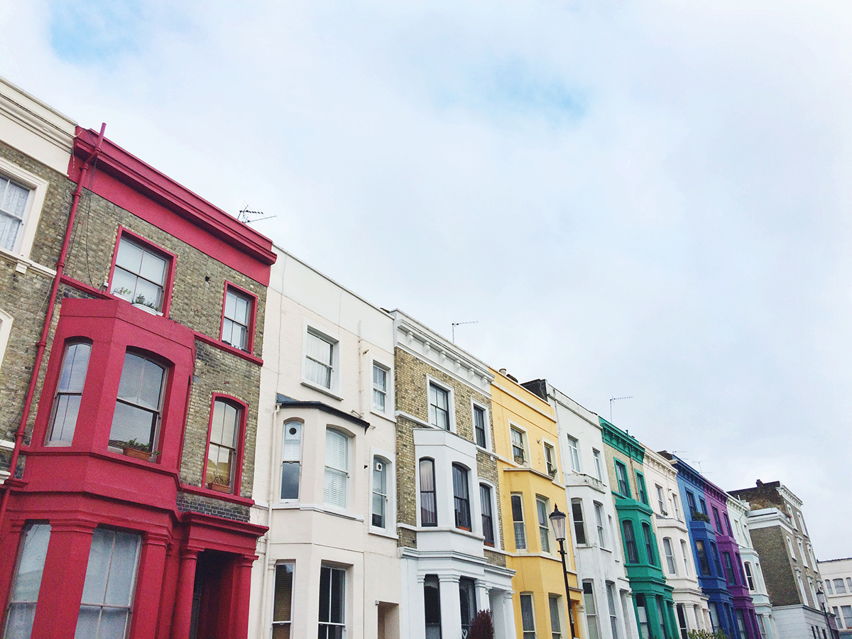 Colorful homes of Notting Hill