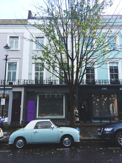 Cute Cars in Notting Hill