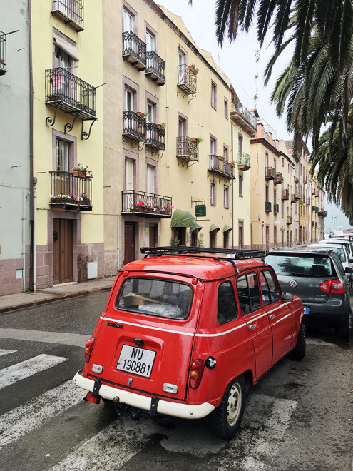 Cute cars on the streets of Bosa, Sardinia