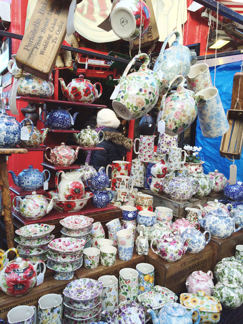 Floral Teacups | Portobello Market | London