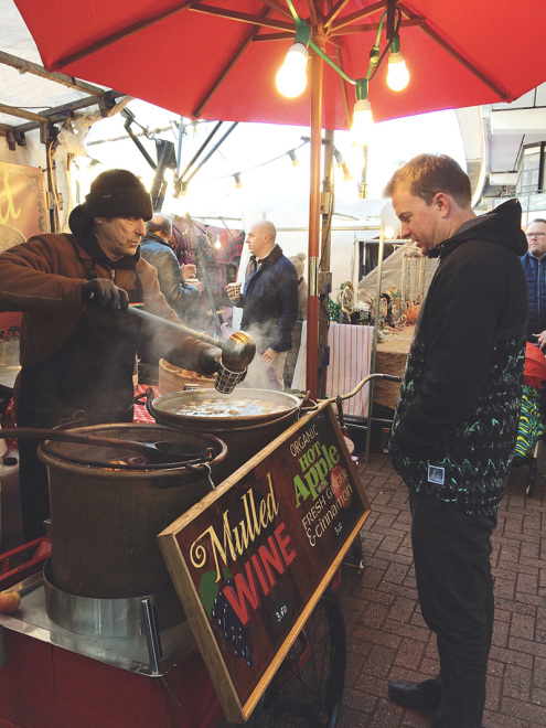 Mulled Wine at the Portobello Market, London