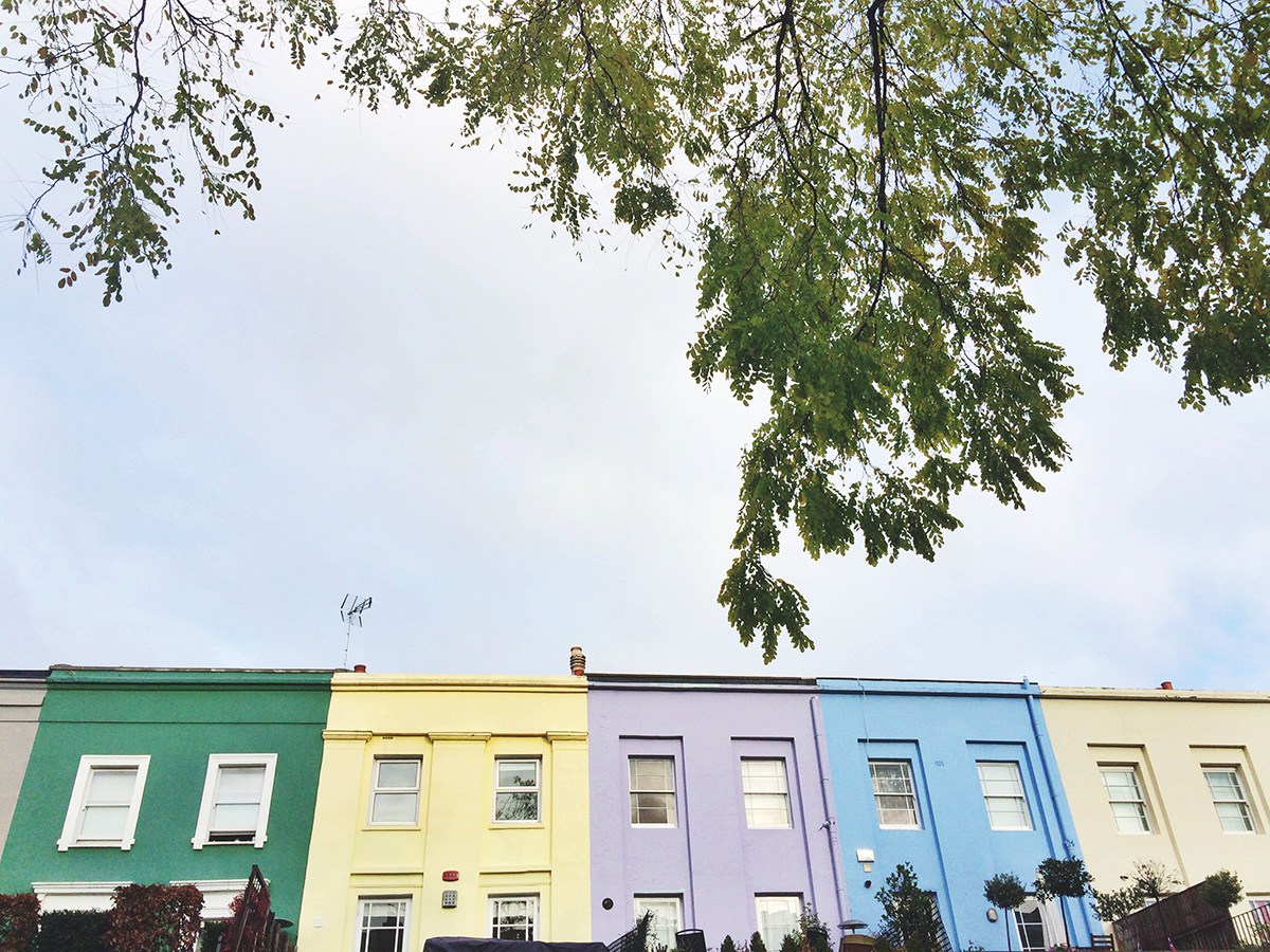 Pretty pastels in Notting Hill, London