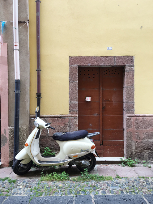 Vespa on the streets of Bosa
