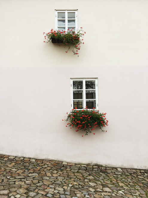 Pretty details on a house in Prague | The Baguettenbergers
