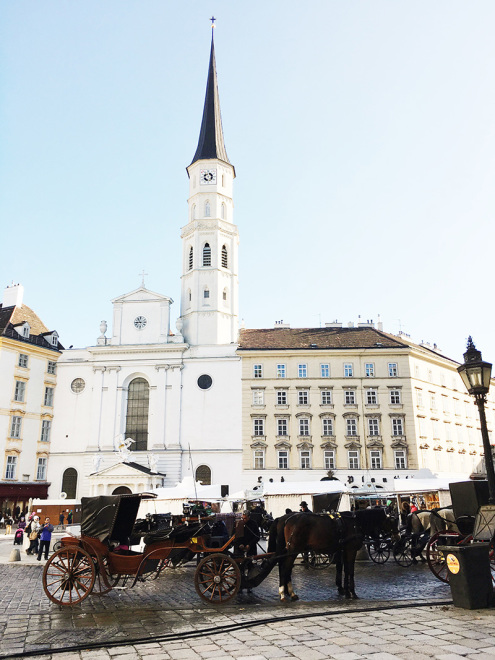 The_Baguettenbergers_Vienna_Austria_Michaelerplatz_Horse_And_Buggy